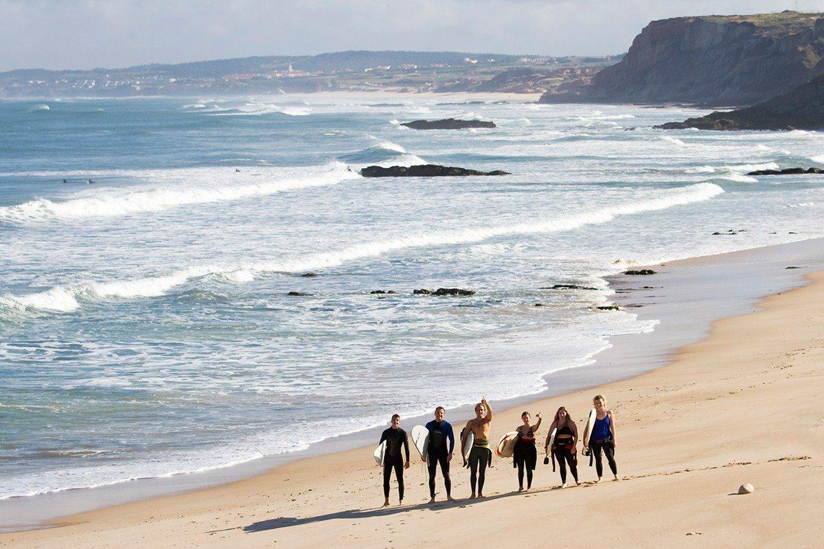 beach surfers
