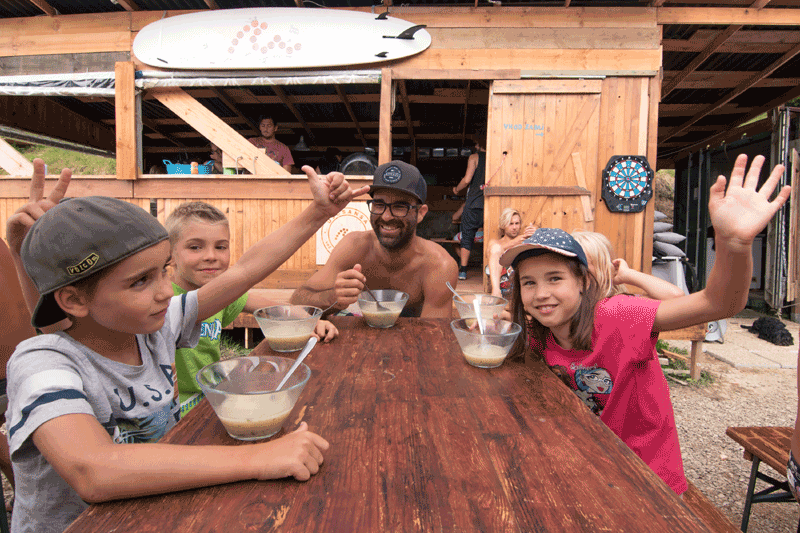 Adventure family holidays in surf camp