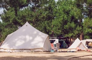 Big and small tipi in our Family Surf Camp